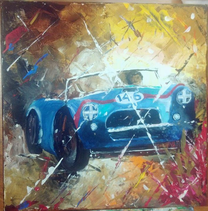 Blue car - mitra