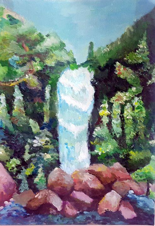 Waterfall Painting - Winnie's Painting