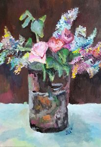 Lilac/Roses/Flowers Painting