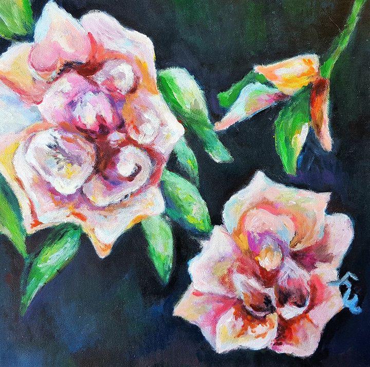 Pink Roses/Flowers - Winnie's Painting