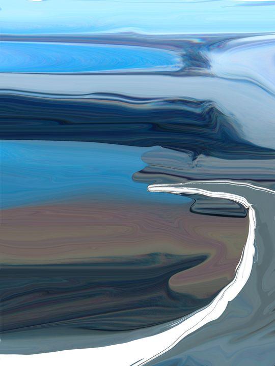 Blue Highway - Lens Art By Florene