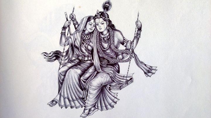 Lord Krishn - Hitendras Art