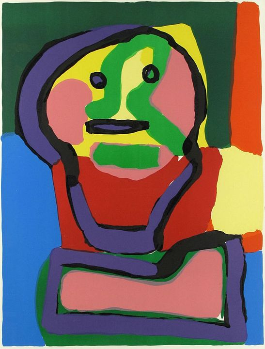 "Karel Appel""Personnage du Face"" - VintageArtGallery"