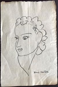 Matisse Original Female Portrait