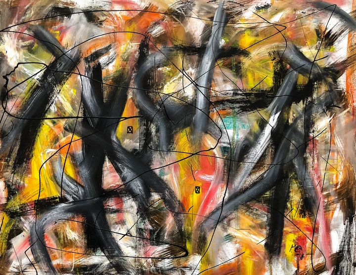 Trapped No.2 (Originals paintingSOLD - Marcus Carlsson