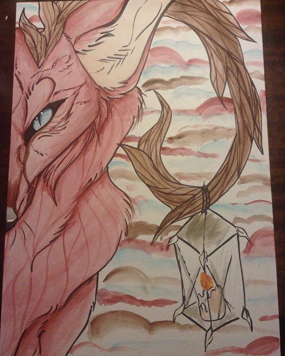 Red fox W/ Lantern - Crxzy cute pop art