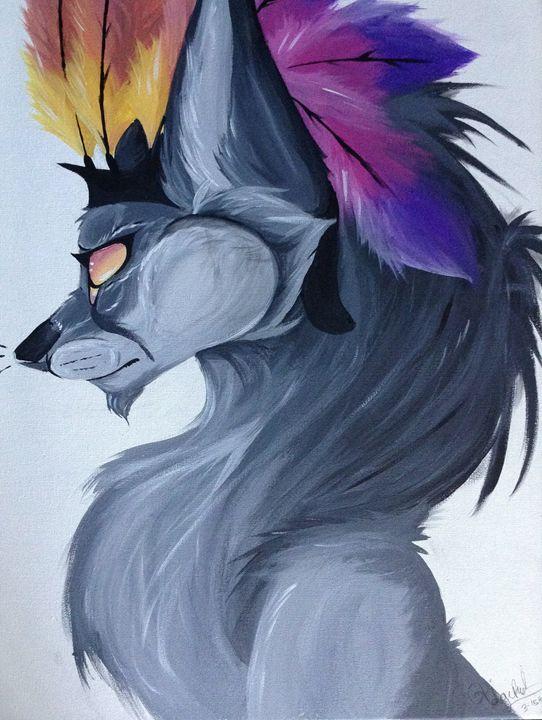 Fox With Headdress - Crxzy cute pop art