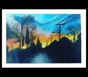 OC Sunset Oil Pastel