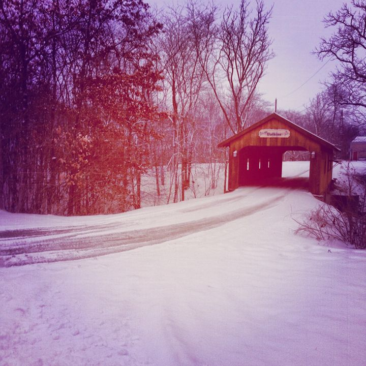 """Covered Bridge in Kenton, Ohio"" - Pat Geco"