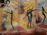 Musical Oil Painting