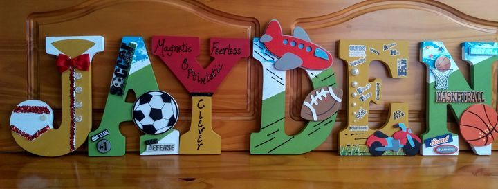 Sporty Wall Art for JAYDEN'S Room - Denise's Regal Art