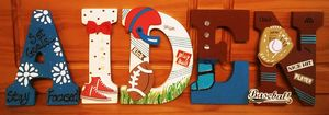 Personalized Wood Letters Wall Decor