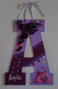 "Wall Letter ""A"" Bedroom Hanging Deco"