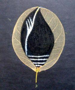 Painting on a leaf - Vishwa Mohan dubey