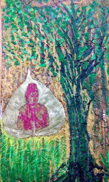 Buddha with tree - Vishwa Mohan dubey