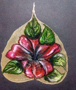 A flower on  a leaf - Vishwa Mohan dubey