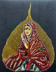 Rajasthani Women on  a leaf