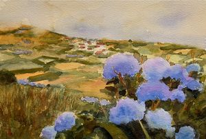 Azores in blue