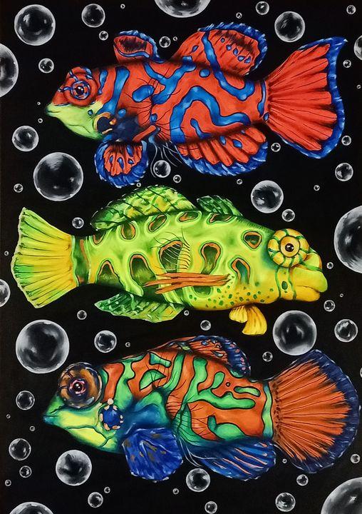 """'Mandarin Fish"""" - Art by Rishika"""