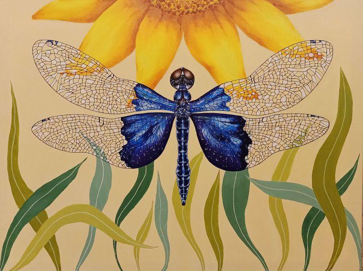 """""""Sapphire Flutterer"""" - Art by Rishika"""