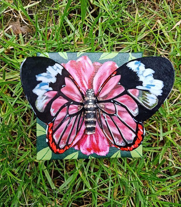 """Glass-winged Butterfly"" - Art by Rishika"