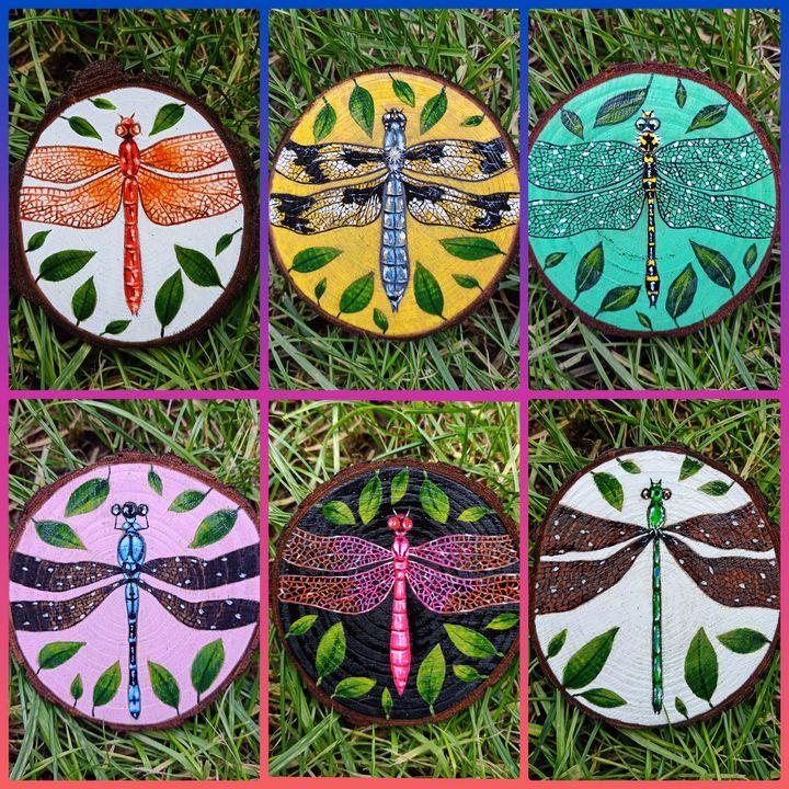 """""""Dragonfly Coasters"""" - Art by Rishika"""