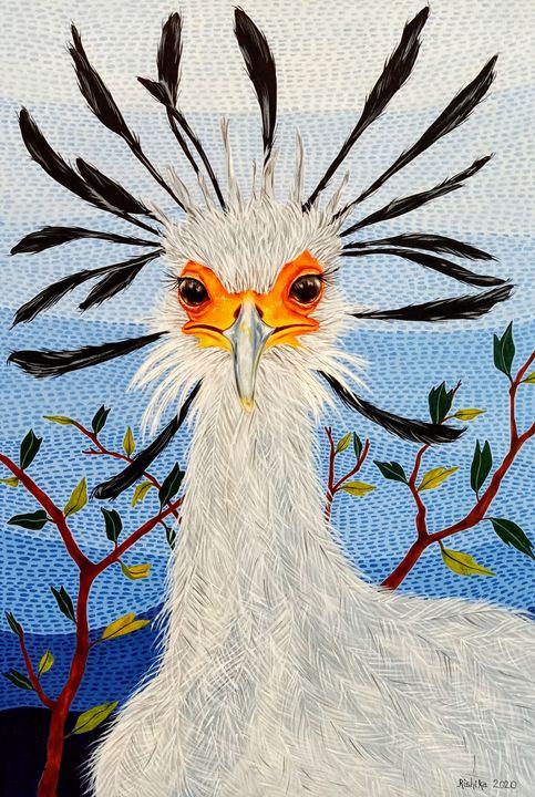 """Secretary Bird"" - Art by Rishika"