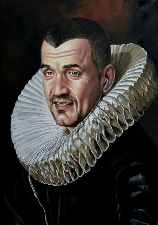Baroque self-portrait - Sabin & Catalina Art