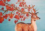 Fall Deer Painting