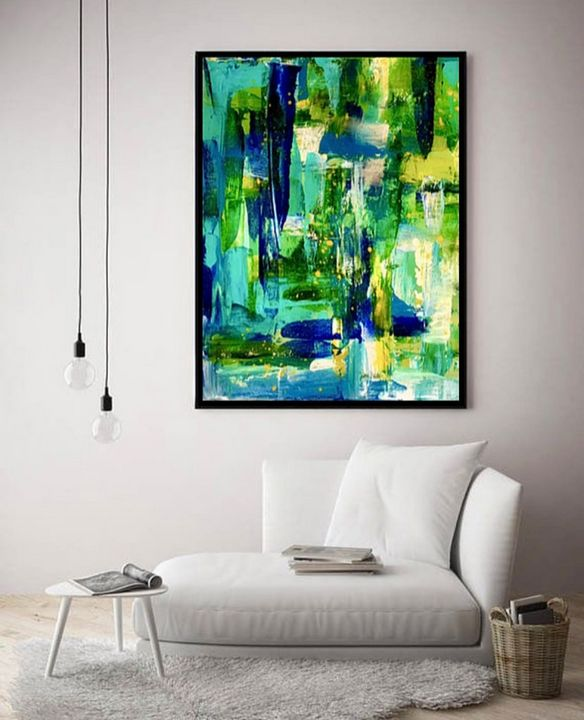 Grassy Waters / Canvas Print - KyAbstracts