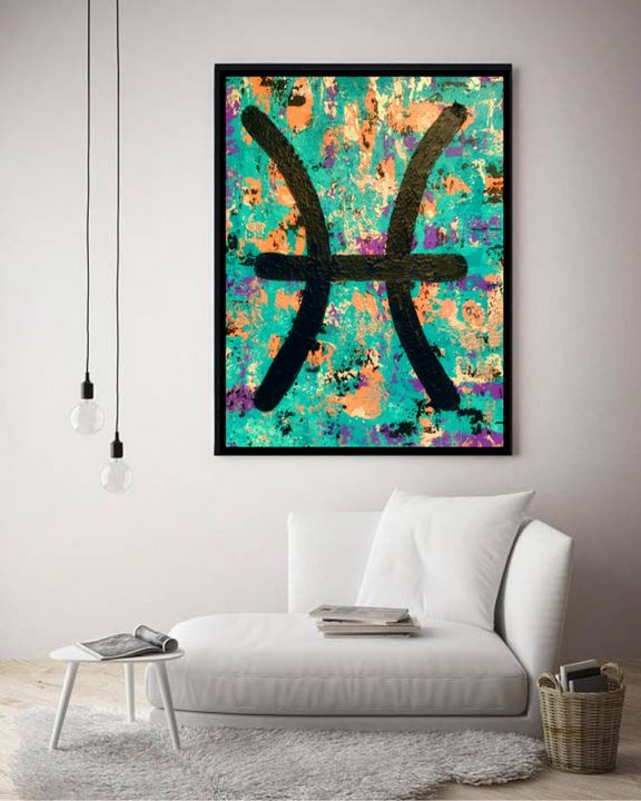 Pisces Zodiac / Canvas Print - KyAbstracts
