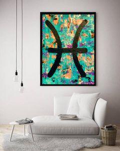 Pisces Zodiac / Canvas Print