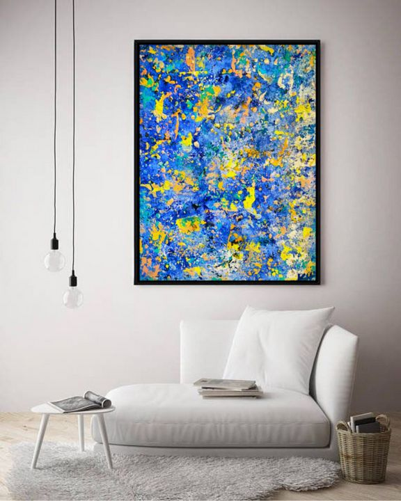 Electric Blues / Canvas Prints - KyAbstracts