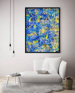 Electric Blues / Canvas Prints