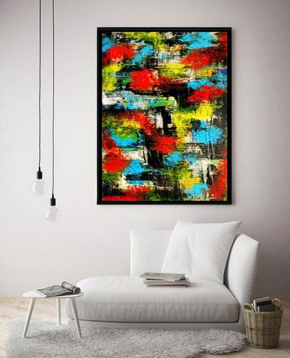 Explode / Canvas Print - KyAbstracts