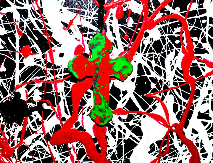 Cross with Abstract 3 - David Monte Cristo