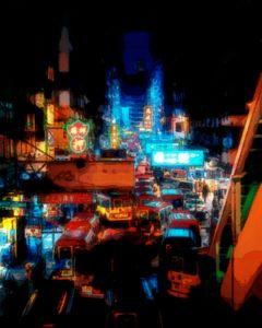 Sleepless Hong Kong City Lights