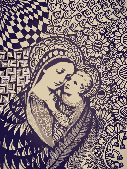 Mary and Jesus - tengsArt