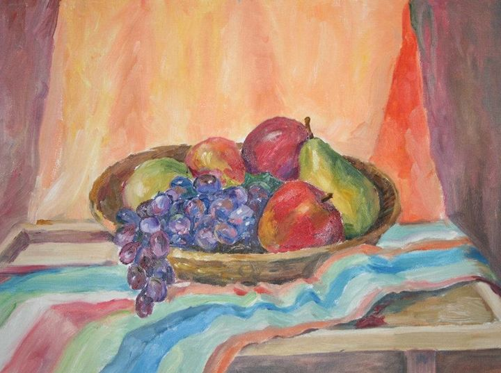 Colorful Fruit Still Life - Maria V.