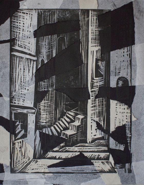 Abstract city at night - Maria V.