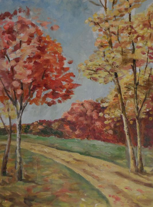 Country road in the fall - Maria V.