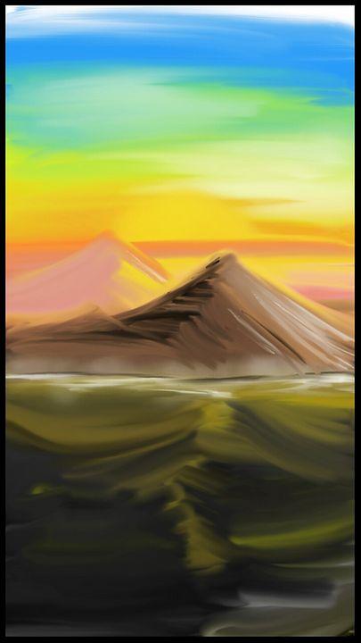 Sunset Canyon - Desert Trail Canvas