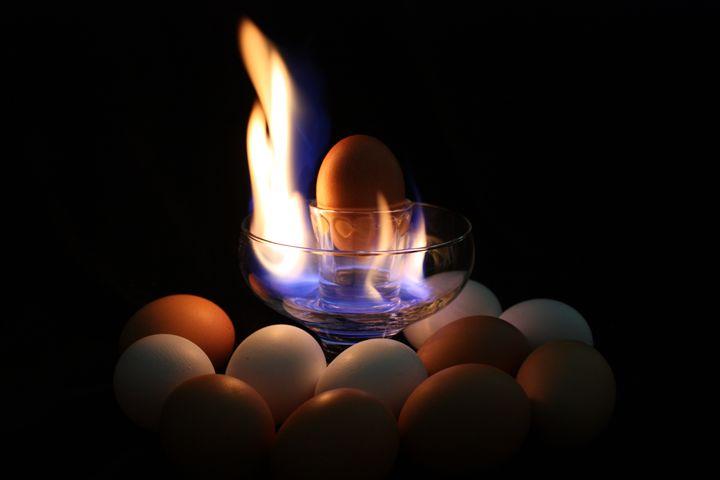 Flaming Egg 2 - Lisa McClendon
