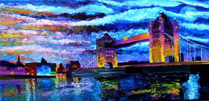 Moonrise over Tower Bridge - Color Distributions