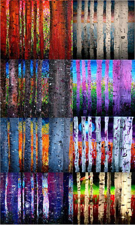 Aspen Tree Variations - Color Distributions