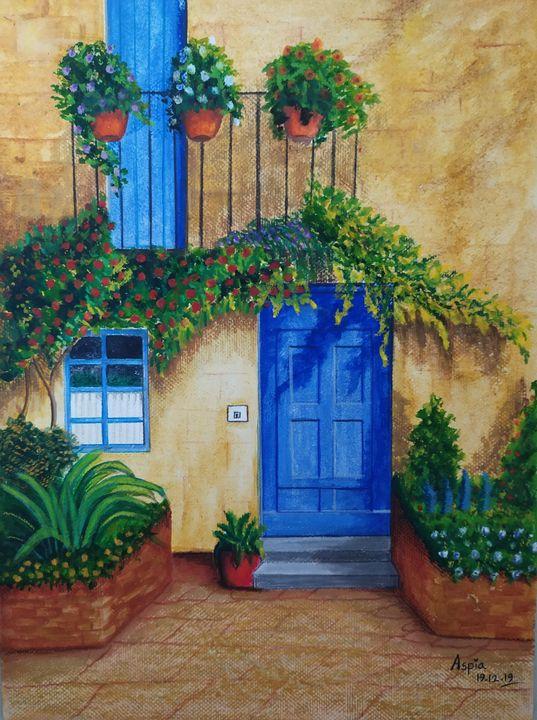 Blue door - Aspia's artbook