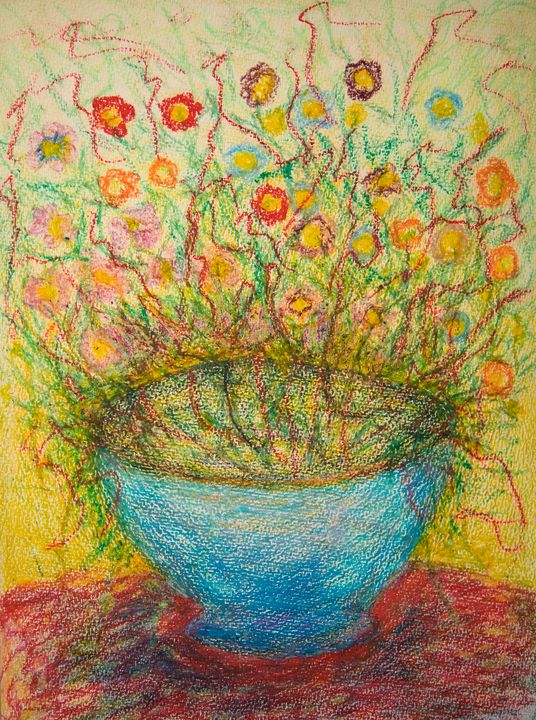 Fall Flowers - Traditional Art