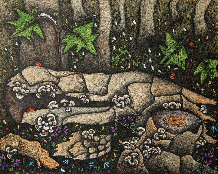 Mushroom - Traditional Art