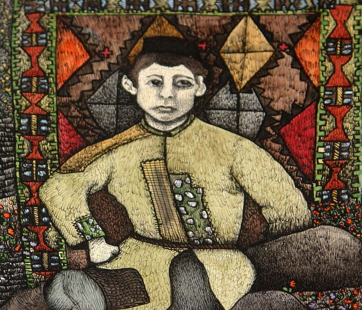 Young boy - Traditional Art