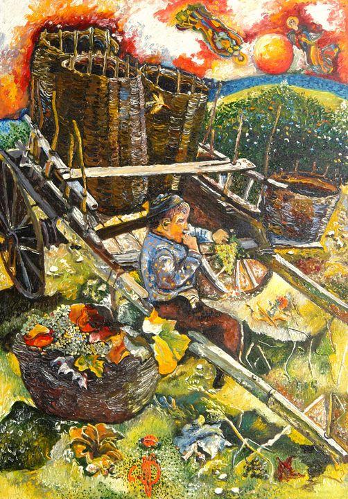 The Fall in Kakheti region - Traditional Art